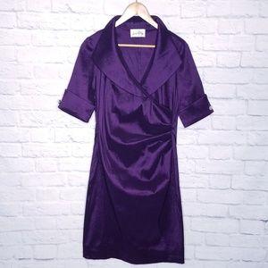 🛒 Joseph Minkoff Purple Dress 8